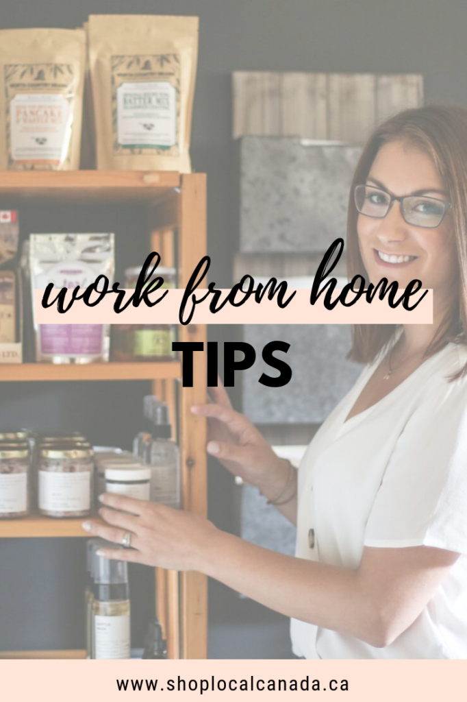 Acre75, work from home tips, Shop Local CANADA