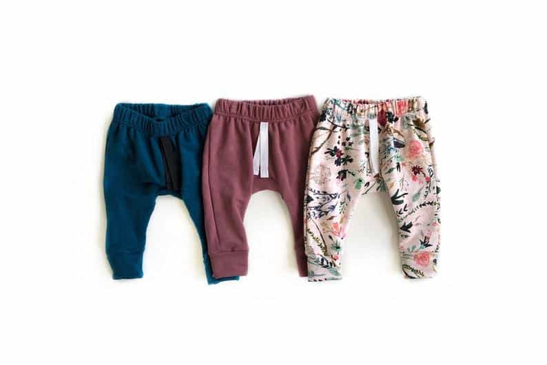 baby harem joggers by everlee baby