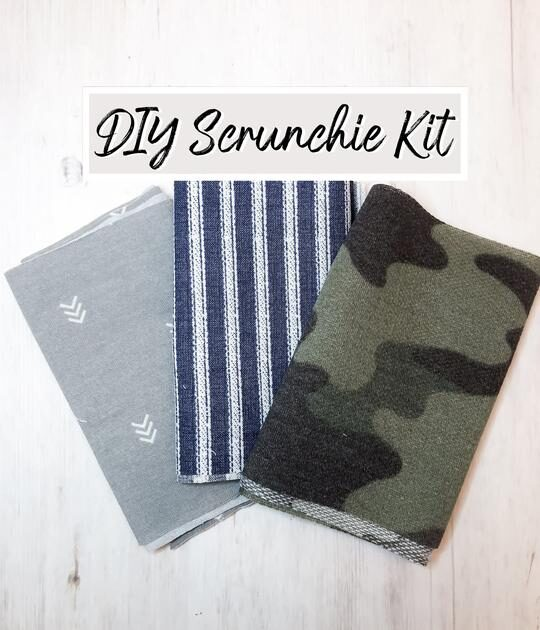Antler and Acre, Scrunchie Kits, Shop Local CANADA, Make your own scrunchie