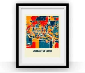 Canadian map prints